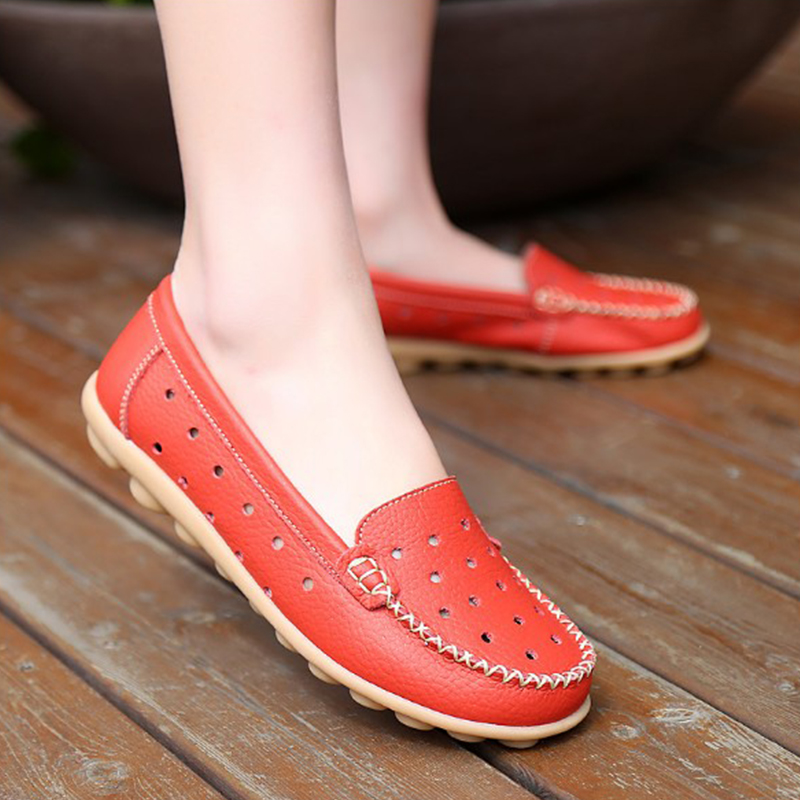 Spring Real Leather Loafers Women Flats Shoes Moccasins Soft Round Toe Ladies Footwear Women Summer Casual Female Shoes DC36 new women flats shoes leather round toe shoe ladies fashion leather girl shoes slip on work footwear spring summer big size