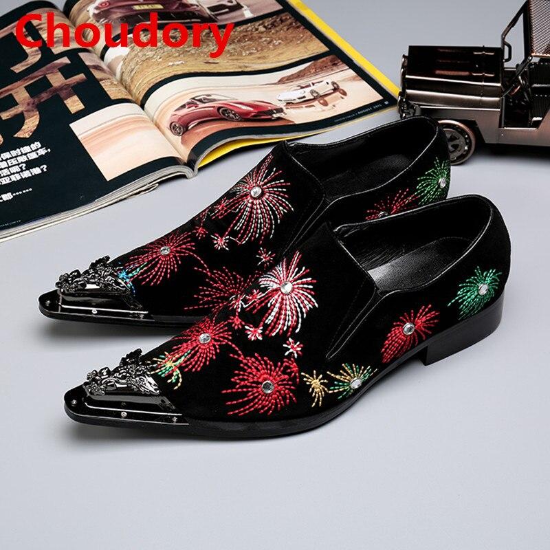 As Cravado Choudory Picture Masculino Pointy Loafers Homens Sociais Brogue Vestem Cores Ferro De Toe Sapato Italianos 2017 Se Misturadas Sapatos Preto qtHCt