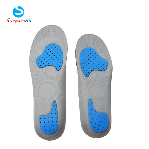 SOCOMFY Breathable Massage Insoles HI-POLY Sweat Absorption Basketball Sports Running Shoe Insoles Pad Cushion socomfy gel pu insoles shock absorption