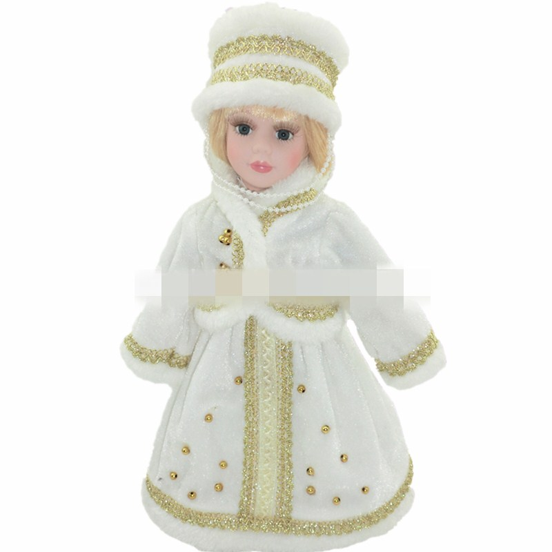 30cm winter Russian girl porcelain doll simulation ceramic dolls, European, Victorian style, porcelain doll simulation doll