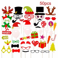 PATIMATE Christmas Paper Hat Funny Moustache Party Mask Photography Christmas Decoration Photo Props 5
