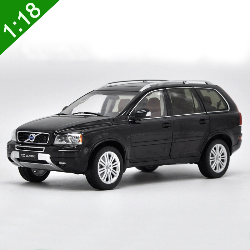 1:18 Classic Volvo XC90 Alloy Diecast Model Black Brown SUV Toy Car Miniature Collection Gifts Original Box Free Shiping