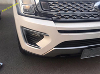 Lapetus For Ford Expedition 2018 ABS Bright Style Outside Front Fog Light Lamp Molding Garnish Cover Trim 2 Pcs / Set