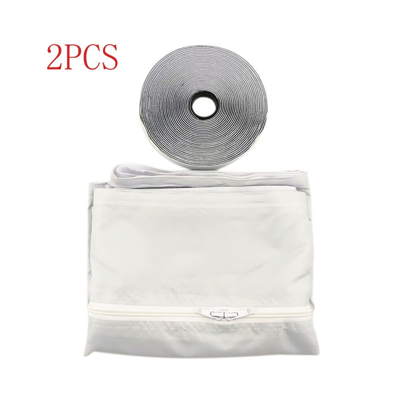 2pcs 3 meters Air Lock Window Seal Cloth for Home Air Conditioning Airlock Window Sealing Baffle Air Conditioner 0711#