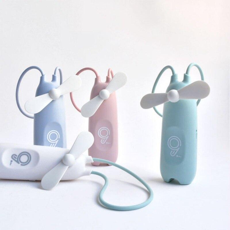 Tragbare Usb Aufladbare Hängen Hand Persönlichen Luftkühlung Fan Mit Elastische Silikon Lanyard Für Home Büro Freien Um Jeden Preis