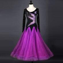 купить Standard Ballroom Dresses Adult Elegant Stage Dancing Costume Purple Tango Waltz Ballroom Competition Dance Dress по цене 6122.98 рублей