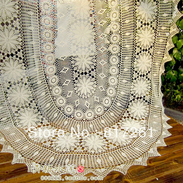 Free Shipping Oval Beige Cotton Crochet Lace Tablecloth Cover For Dinning  Table Decoration Overlays For Home