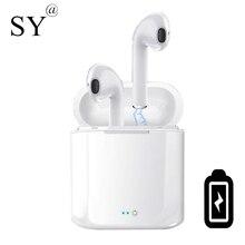 Мини Bluetooth наушники с микрофоном беспроводные наушники с зарядным устройством стерео гарнитура для iphone android huawei