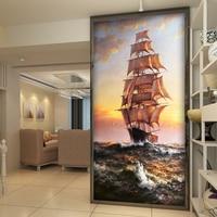 Custom Photo sailboat Wallpaper for Walls Abstract Art Home Decor Wall Mural for Corridor/Porch Livingroom Bedroom Paper Wall