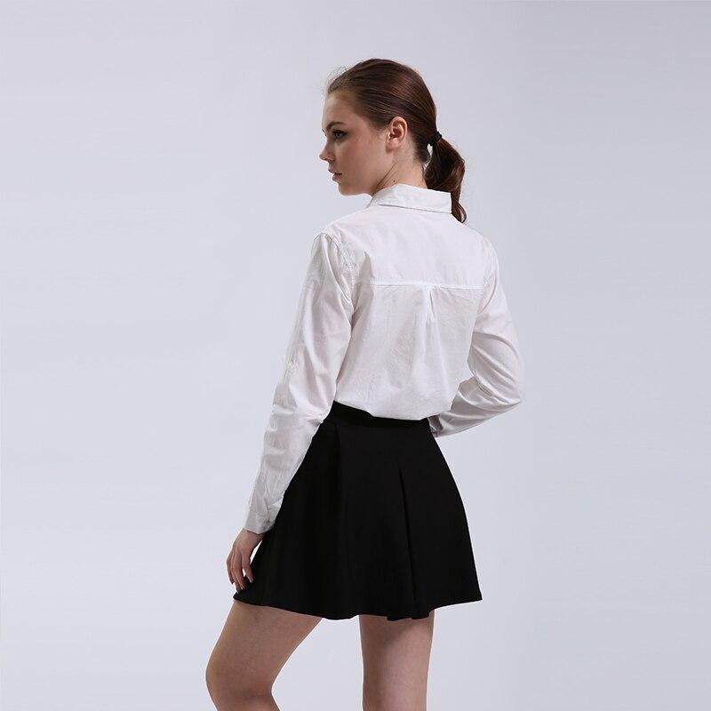 Medvilniniai palaidinės Nauja 2018 Pavasario Moterų marškinėliai - Moteriški drabužiai - Nuotrauka 4