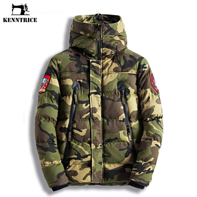 d2ac9fad1d3 KENNTRICE Winter Jacket Men Camouflage Anorak Mens Winter Parkas Quilted  Men Jacket Camo Coats Thick Padded Warm Loose Coat Male