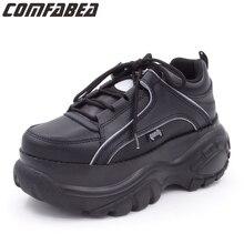 COMFABEA zapatos de cuña gruesa para mujer, zapatillas planas con plataforma, informales, Punk, para Primavera, 2020