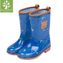 Kocotree модные дети унисекс водонепроницаемый комбинезон плащ же тип непромокаемые сапоги детская обувь для дождя студентов водонепроницаемая обувь