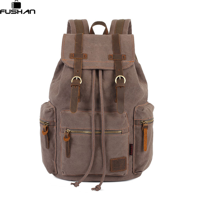 Vintage Canvas Backpacks men high quality men bag Backpacks Brands ...