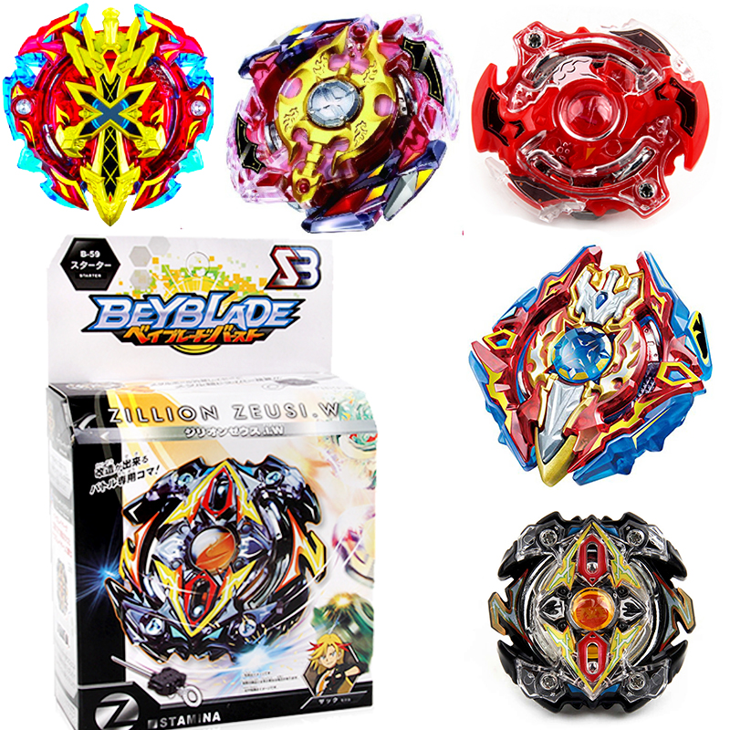 Top beyblade Toys for sale original Burst with launcher Starter Xeno Excalibur.M.I Starter Zillion Zeus I.W B-48 B-66 beyblade burst with launcher handle