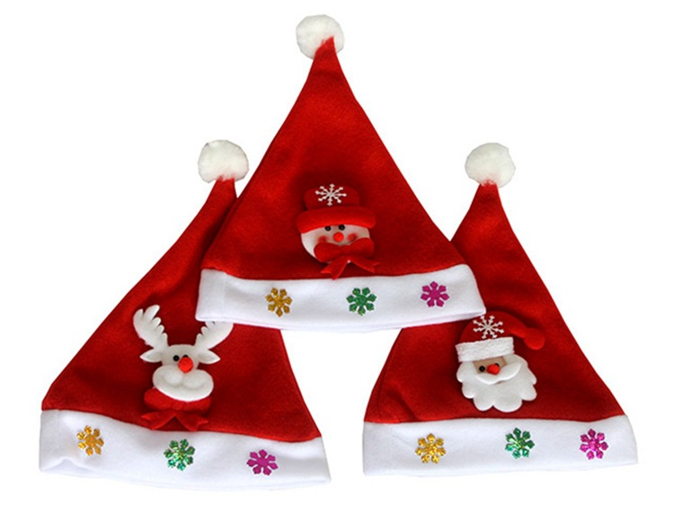 YYMM Kid Cheer Christmas Hat Children adult Santa Claus Reindeer Snowman Party Cute Cap wedding decoration beanie