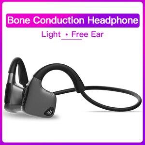 Image 2 - Bluetooth 5.0 R9 casque sans fil Conduction osseuse écouteur Sport de plein air casque avec Microphone mains libres casques