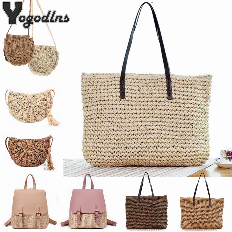 2019 Straw Bags Women Summer Rattan Bag Handmade Woven Beach Tote Bags Crossbody Shoulder Bag Bohemia Girls Handbag Bali Travel2019 Straw Bags Women Summer Rattan Bag Handmade Woven Beach Tote Bags Crossbody Shoulder Bag Bohemia Girls Handbag Bali Travel