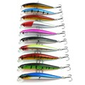 10pcs/set 9cm 7.5g Fishing Lure Isca Artificial Floating Minnow Hard Bait Crankbait Swimbait Wobblers Fishing Lure