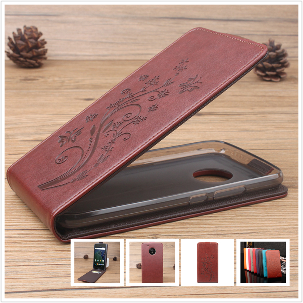 Star Leather Case For Motorola Moto G5 / G 5 MotoG5 5.0 inch Mobile Phone Card Slot Flip Cover Case Cellphone Shell Housing