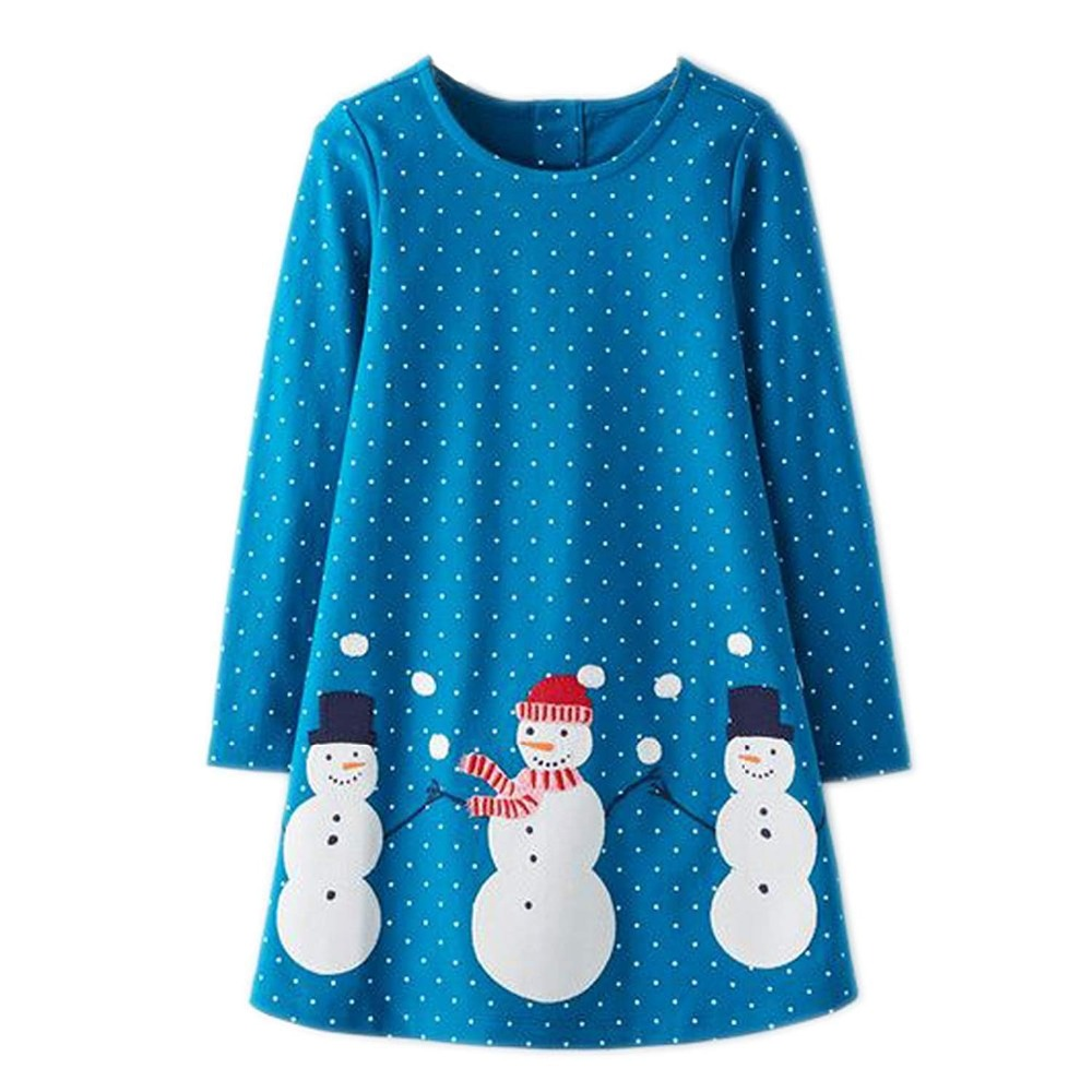 Baby Dress Cotton A-line Princess Dress Christmas Costume for Kids Clothes Autumn Winter Toddler Girls Dresses Children Clothing 2017 new baby girls christmas man dot dress costume cotton children dresses christmas red color children s clothing 2 6 yrs