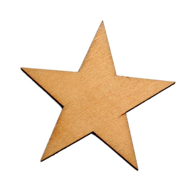 30pcs Natural Stars Wood Craft Embellishments MDF Wooden Cutout Flatback  Scrapbooking for Cardmaking DIY Wedding Decoration 5682a0b77dc8
