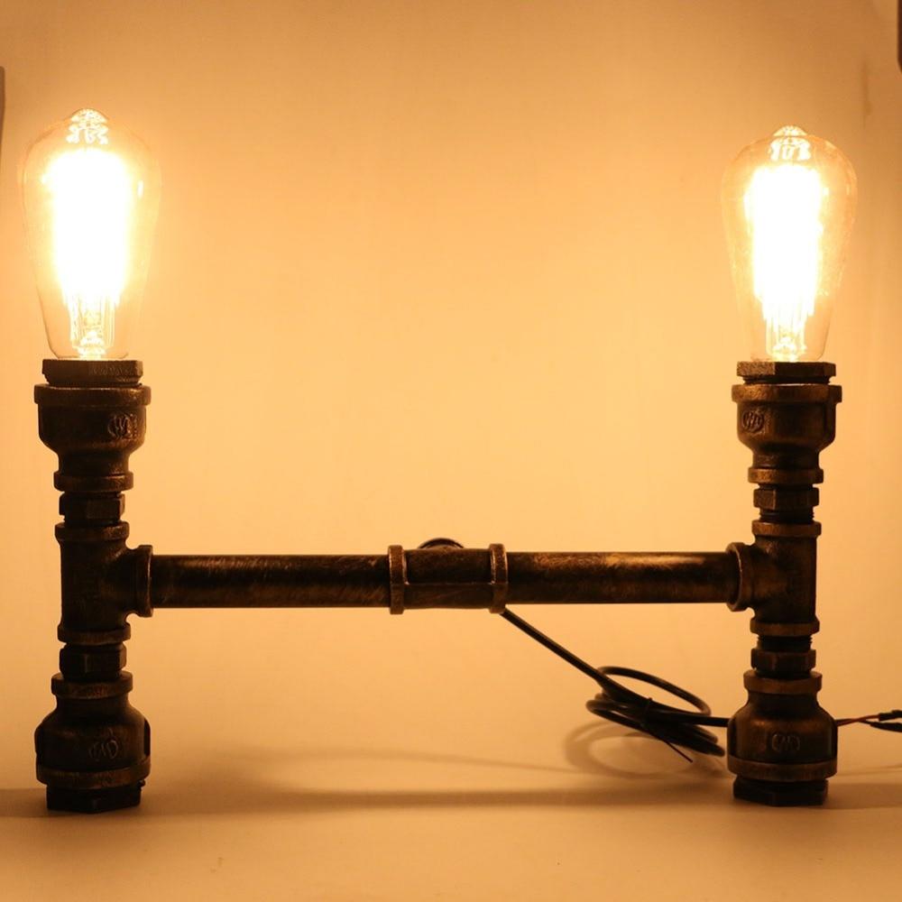 Retro Industrial Edison Bulbs 4 Heads Pendant Light Iron Water Pipe Copper Color Dining Room/Bedside Cafe Shore Decor Drop Lamp light copper industrial retro edison