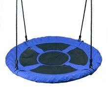 Открытый 1 м 40 дюймов открытый детская площадка качели Набор тарелка поворот дерево гнездо качели 900D 600lbs Летающий канат круглые качели
