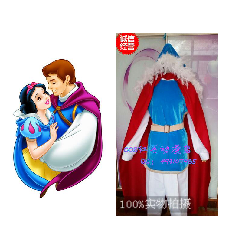 2016 Snow White Prince Charming Cosplay Costume Custom Made With Hat