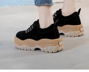 Noir Cuir Harajuku De À Faible marron Coréenne En Chaussures Femmes Version Nouvelle 2018 qnPvI