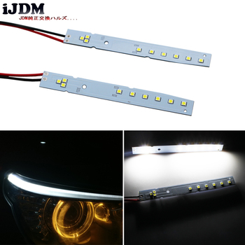 iJDM 9SMD LED Eyelid Eyebrow Modules For 2008-2010 BMW E60 LCI 5 Series 528i 535i 550i M5,HID Matching Xenon White image