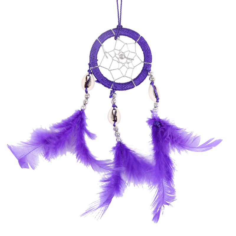 Handmade Dream Catcher Circular Net With Feathers Wall Hanging Decoration Decor Ornament Craft Gift Home Decoration