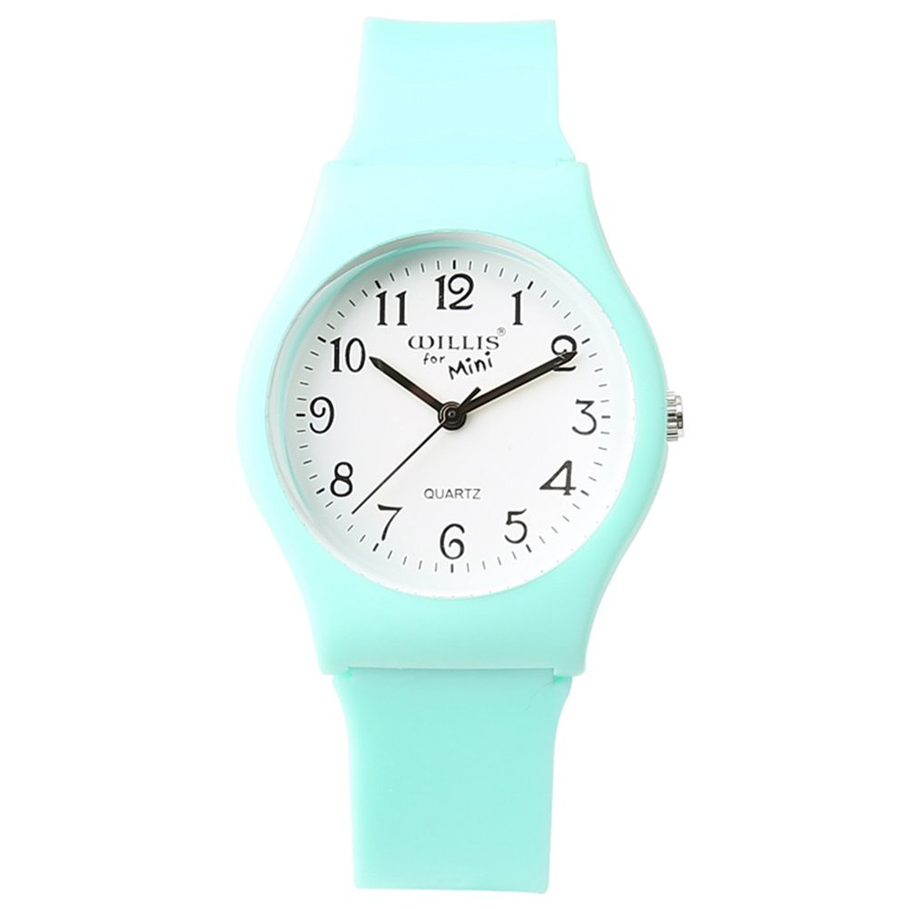 WILLIS New Fashion Simple Children Watch Waterproof Silicone Watch For Students Water Resistant