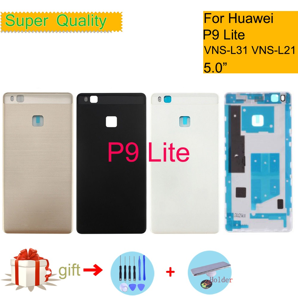 Battery-Cover Housing Huawei Chassis-Shell Back-Glass P9-Lite ORIGINAL for Vns-l31/Vns-l21/Vns-l22/..