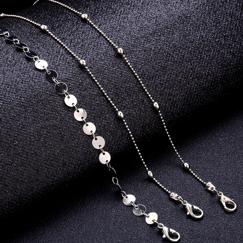 Chain Gifts Adjustable Exquisite Bohemia Beads Bracelet Golden Sequin 3PCS/Set Valentines Gift 19 New Arrival Silver 10