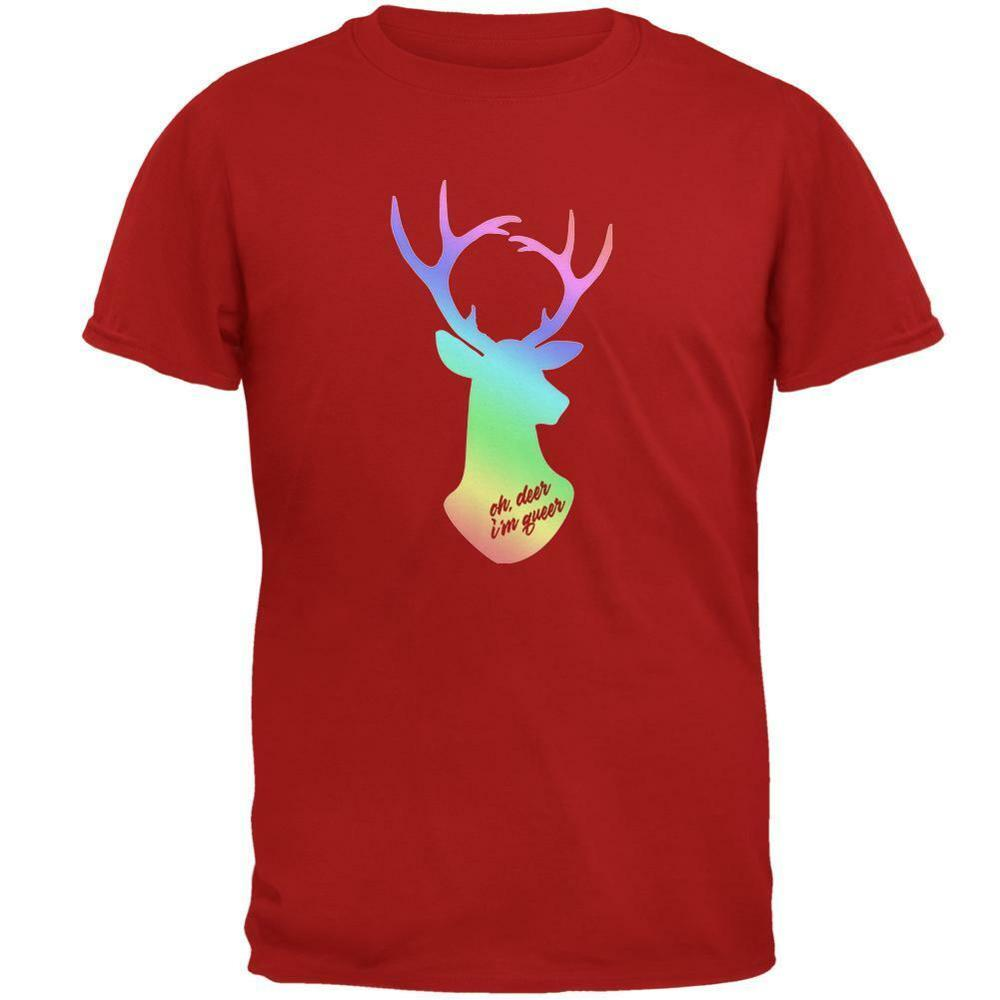 2019 Cool Lgbtq 'Oh, Deer! I'M Queer' Gay Pride <font><b>Funny</b></font> <font><b>Sex</b></font> Unisex <font><b>T</b></font> <font><b>Shirt</b></font> In Sizes S-3Xl! Unisex Tee image