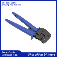 MC4 Solar PV Cable Crimping for Solar PV Cables(2.5 6.0mm2)/Amercian Style Hand Crimping Tool A 2546B DIY Solar MC4 Connector