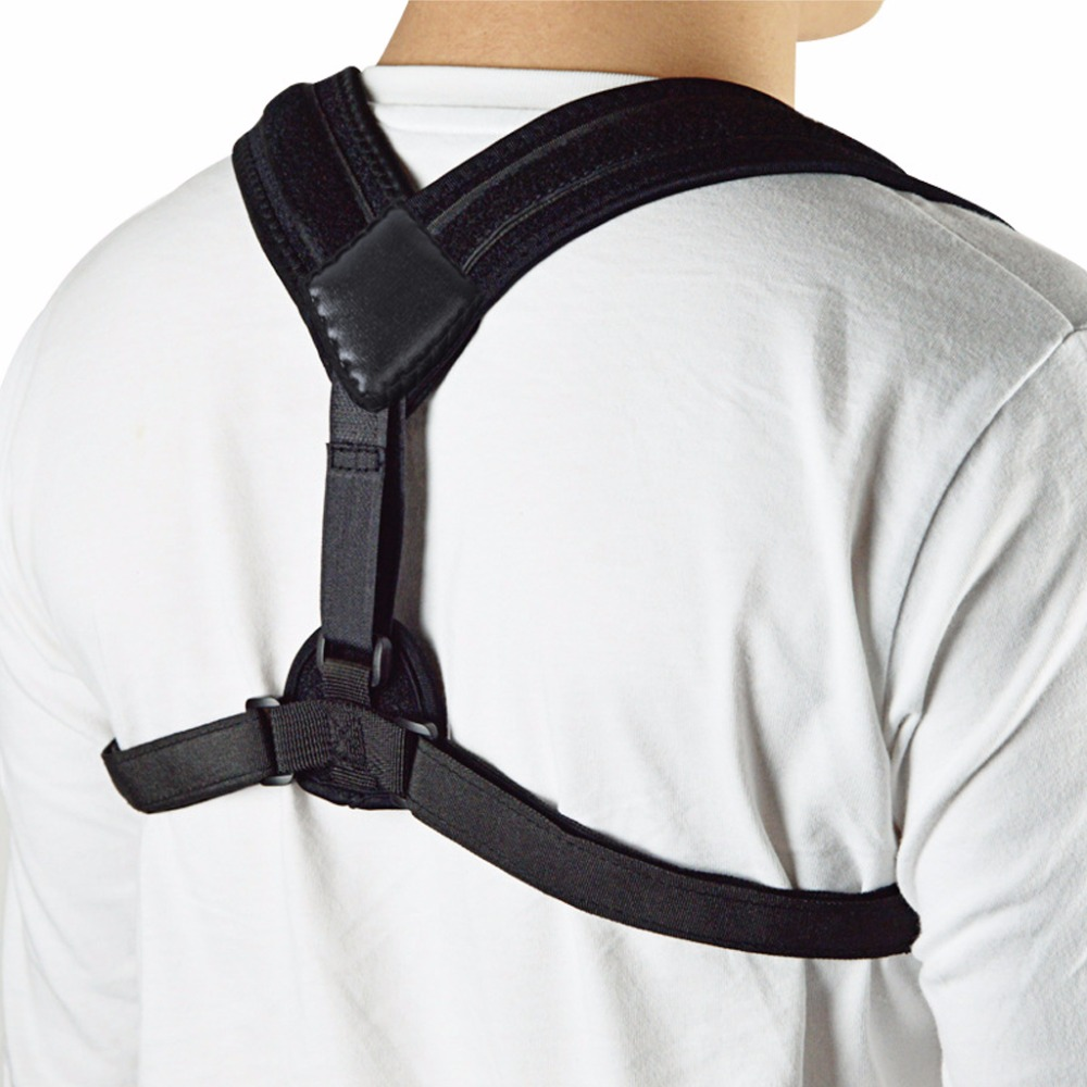 Upper Back Posture Corrector Shoulder Clavicle Support Shaping Belt Back Slouching Corre ...
