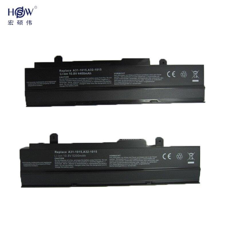 HSW 5200mAh Battery for ASUS Eee PC 1015 1015B 1015P 1011 1016 1215 R011 R051 A31-1015 A32-1015 AL31-1015 PL32-1015 bateria akku все цены