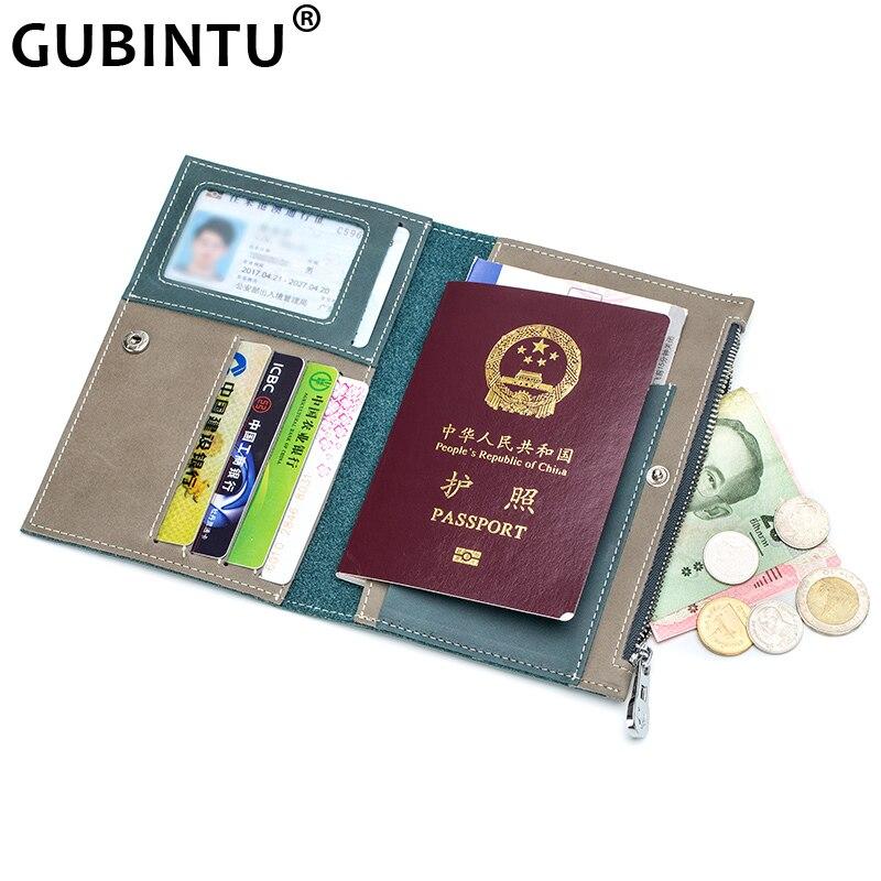 GUBINTU Driver License Bag Split Leather On Cover For Car Driving Document Card Holder Passport Wallet Bag Certificate Case