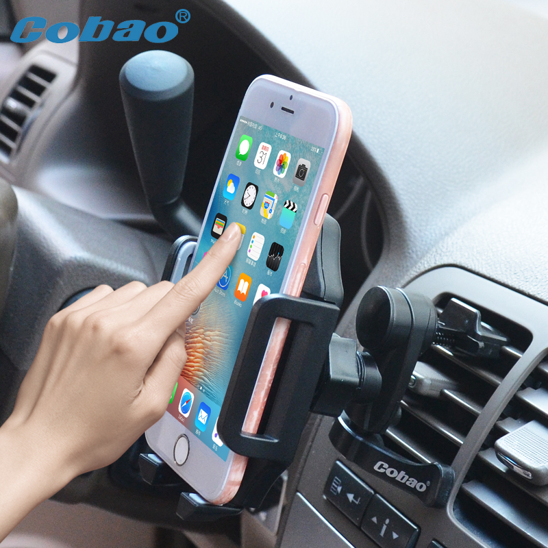 Cobao Universal Car Phone Holder 360 Adjustable Car Mount Holder Air Vent Mobile Phone Holder Stand For IPhone 8 7 6 Samsung
