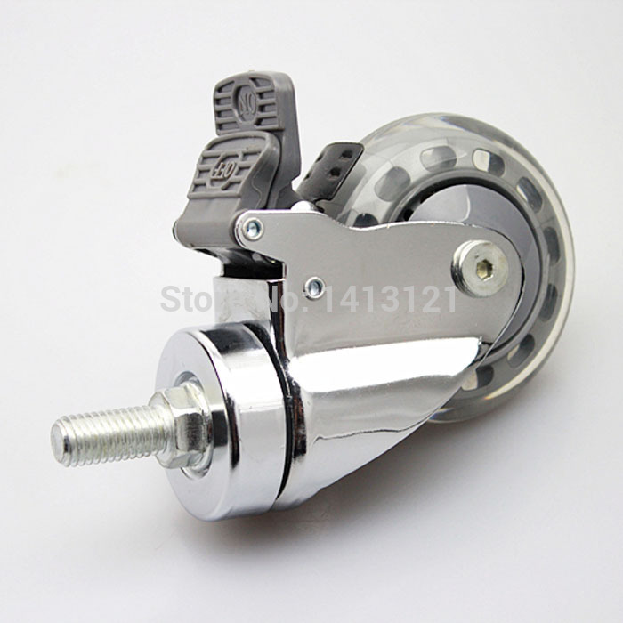 free shipping 75mm Silent Medical Caster hospital bed universal wheel with brake Industry Business Handling Equipment Part coal handling and equipment selection
