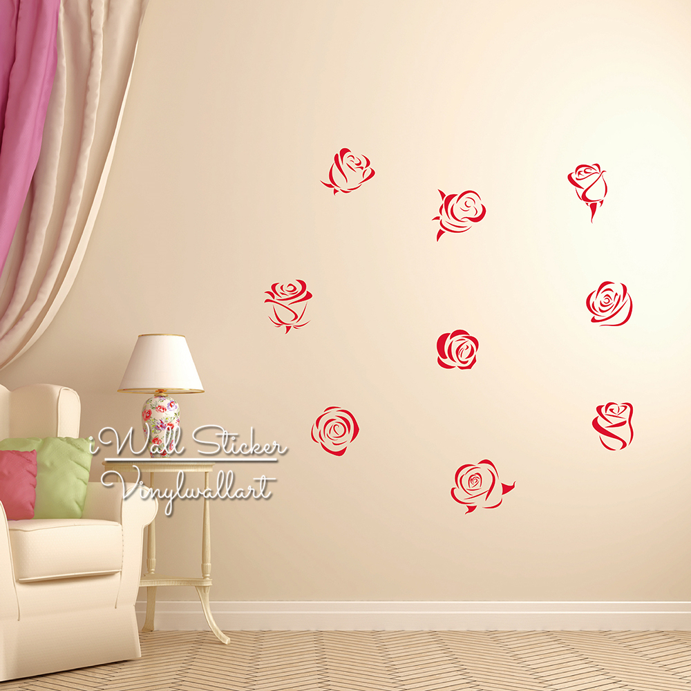 Rose wall stickers gallery home wall decoration ideas aliexpress buy roses wall sticker roses flower wall decal aliexpress buy roses wall sticker roses flower amipublicfo Gallery