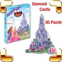 New DIY Gift Diamond Castle 3D Puzzle Cartoon Castle Model Fairy Tale Toys For Children Train