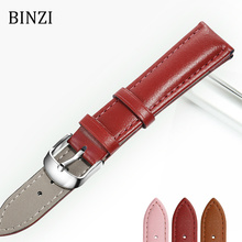 Watchband Leather Watch Band Men Women 22mm 20mm 18mm 16mm 14mm 12mm Wrist Watch Strap On Belt Watchbands Bracelet Metal Buckle цены онлайн