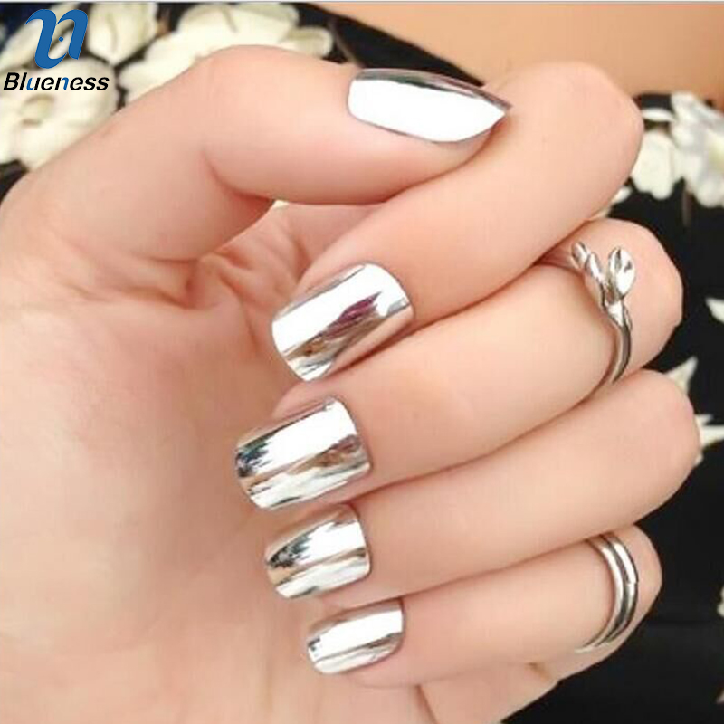 1g/Box Gold Sliver 2 Colors Mirror Glitter Powder For Nails Shinning ...