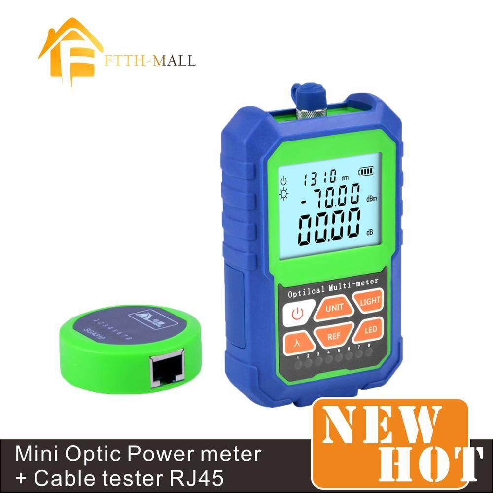 Mini Fiber Optic Power Meter Mx7a -70~+3dBm With LED Light RJ45 Cable Tester