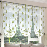 New Arrival Shades Tree Printed Roman Blinds Short Curtain Curtains For Kitchen Coffee Tulle Yarn Sheer Curtains Cortinas