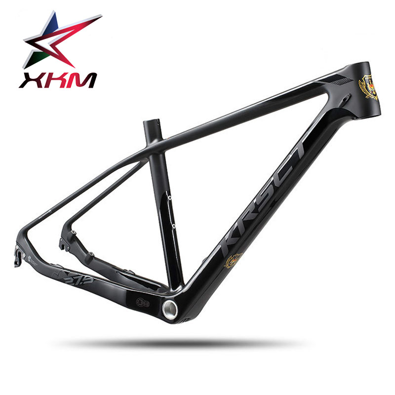 KRSEC full carbon fiber mountain bike  frame MTB 26/27.5/29er 15.5/16.5/17.5:matte bicycle frames Cycling Parts colorful roswheel mtb bike bag 10l full waterproof bicycle saddle bag mountain bike rear seat bag cycling tail bag bicycle accessories