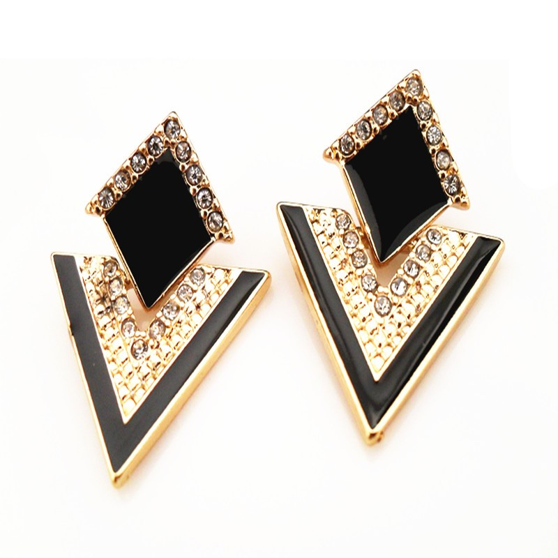 black-and-gold-hheonix-geo-earrings-with-ziron-encrusted-stones-1